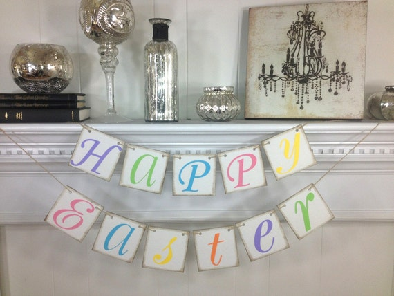 Easter Decoration - Happy Easter Banner- Easter Banner - Easter Garland