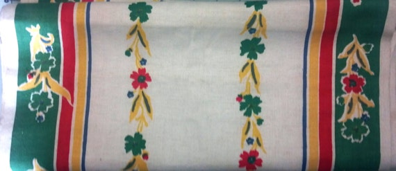 Vintage Linen Dish Towel Fabric By The Yard 16 5 Inches Wide
