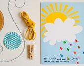Greeting card... Colourful rain...