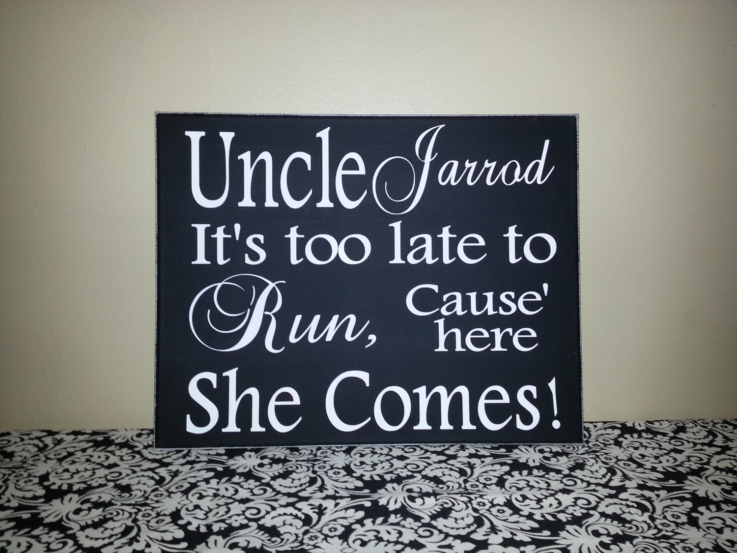 ring bearer sign wedding signs flower girl sign here comes. Black Bedroom Furniture Sets. Home Design Ideas