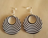 Black and White Earrings, Funky Jewellery, Retro Monochrome Earrings, Gift For Her, Modern Fun Unique Fashion Earrings, Fashionista Gift