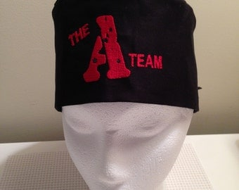Scrub Hat // Surgical Hat // Embroidered A-Team