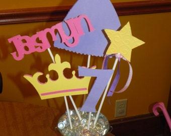 Rapunzel  Birthday Party Centerpiece - Tangled Centerpiece