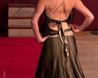 Alluring 8 Panel, Double Layer Mesh, Elastic Waist Skirt