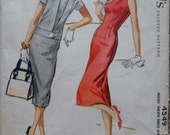vintage 1950s McCALLS 4549  womens sewing pattern sz 10 BUST 31 sheath DRESS with jacket