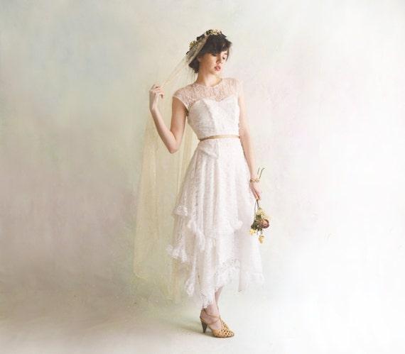 R E S E R V E D ////////// 1920s Style Wedding Dress // Tea