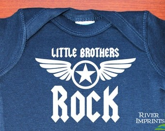 L/S Baby LITTLE BROTHERS Rock, baby boy Long Sleeve onepiece bodysuit