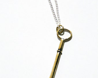 Key Necklace Steampunk Vintage Skeleton Keys Old Brass