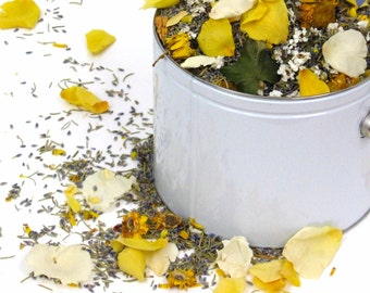 WEDDING ROSEMARY™ Flower Confetti, eco friendly natural confetti of rosemary, lavender, rose petals & meadow flowers, for fairy tale endings