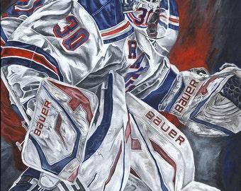 Henrik Lundqvist New York Rangers Glicee Prints