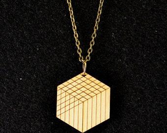 Cube Pendant Necklace - Natural