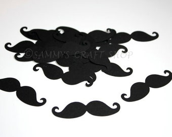 50 Black Mustache Confetti, Mustache Birthday Party Decorations, Little Man Baby Shower, Mustache Baby Shower, Mustache Party Supplies