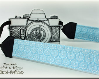 Camera strap, camerastrap, DSLR, light blue