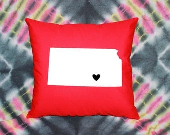 State Love Pillow - KANSAS (Wichita)