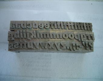 YK1 - FULL 24 pt ITALIC Alphabet -  All Inclusive Letterpress Lot