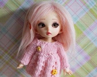 Pink Dress for Lati yellow/pukifee, Middie Blythe and Secretdoll