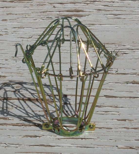 Industrial Vintage Style Wire Drop Light Cage By Splinterwerx