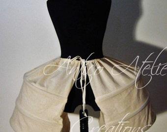 18 century - PANIER- undergarments XVIIIsec , Marie Antoinette, panier settecento, side hoops, laterali per abito settecentesco