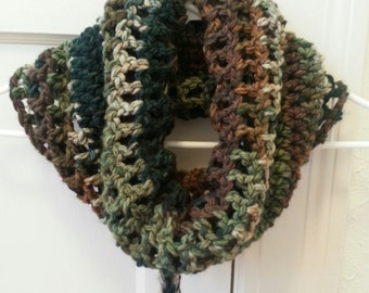 Crochet Pattern Fall Winter Neckwarmer Cowl with Removable Tie SALE