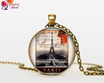 OLD Stamp Necklace old stamp pendant old stamp jewelry for men for women for writer black red beige