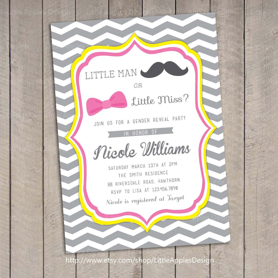 Gender Reveal Invitation Gender Reveal Party invitation – Gender Reveal Party Invite