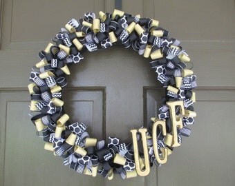 UCF Ribbon Wreath (University of Central Florida/KNIGHTS) - Collegiate Wall Decor