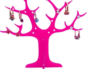 Pink Acrylic Ring Tree (for earrings and rings)