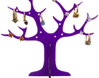 Purple Acrylic Ring Tree (for earrings and rings)