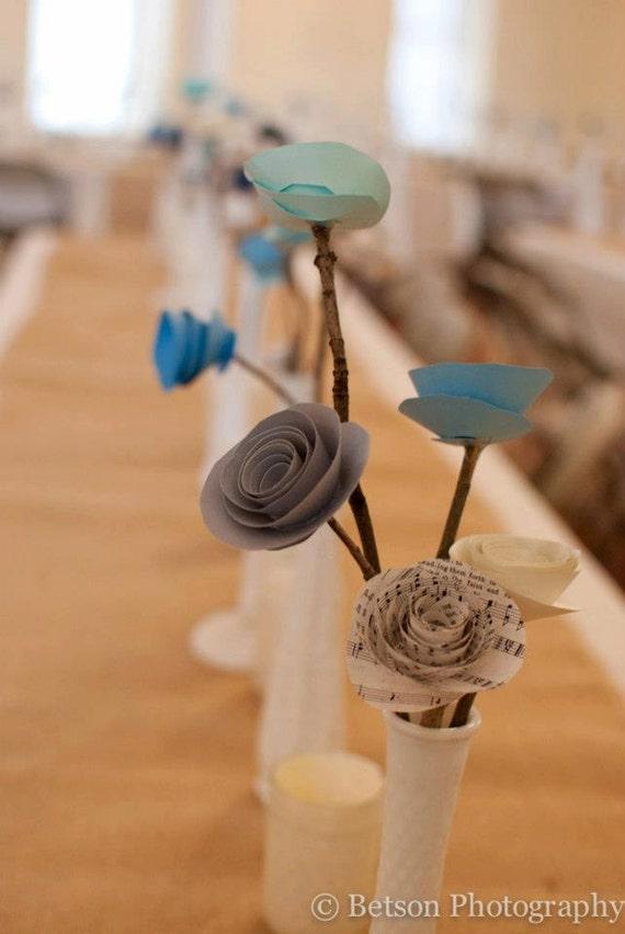 Paper Flower Wedding Centerpieces
