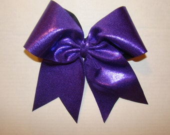 Bright Purple Cheer Bow
