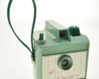 Vintage Mint Green Imperial Savoy 620 Film Camera W/ Wrist Strap Box Camera