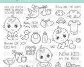 "Digital Stamp Art "" Baby Boo"""
