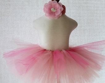 TUTU SKIRT...Pink Tutu Skirt...Newborn Tutu...Baby Tutu...Toddler Tutu...Cakesmash Tutu...Birthday Tutu...Summer Dress
