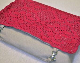 Macbook 15 inch Sleeve Wool and Hand Crochet lid design
