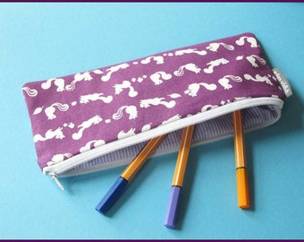 Pencil case, squirrel purple, writing-case