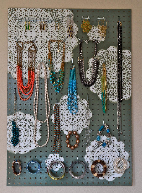 Items similar to Jewelry Organizer Wall Display, Jewelry Holder ...