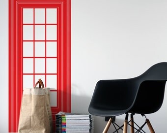 Red Phone Booth Vinyl Decal