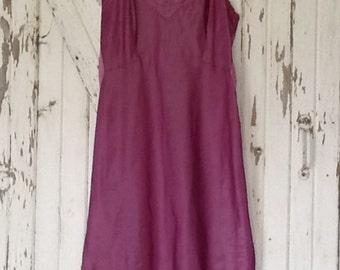 Hand Dyed Purple Vintage Slip Dress