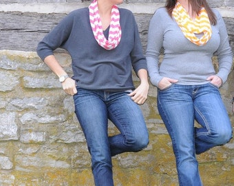 NEW Chevron Knit Infinity Scarf You Pick the Color