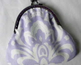 Lilac Damask Purse