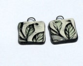 Handmade Ceramic Leaf Pair