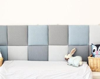 tile headboard etsy. Black Bedroom Furniture Sets. Home Design Ideas