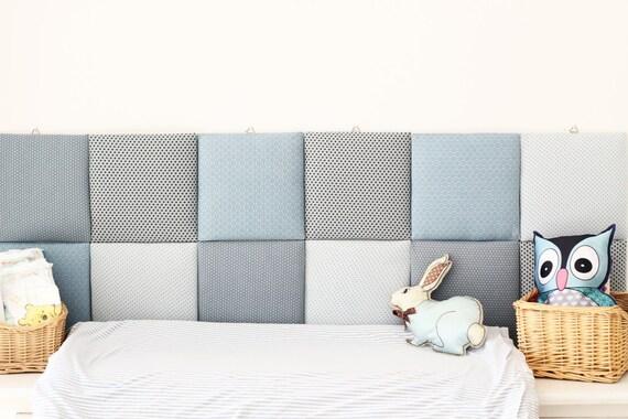 Holidays sale nursery tiles decor protective wall pillows for Headboard made pillows