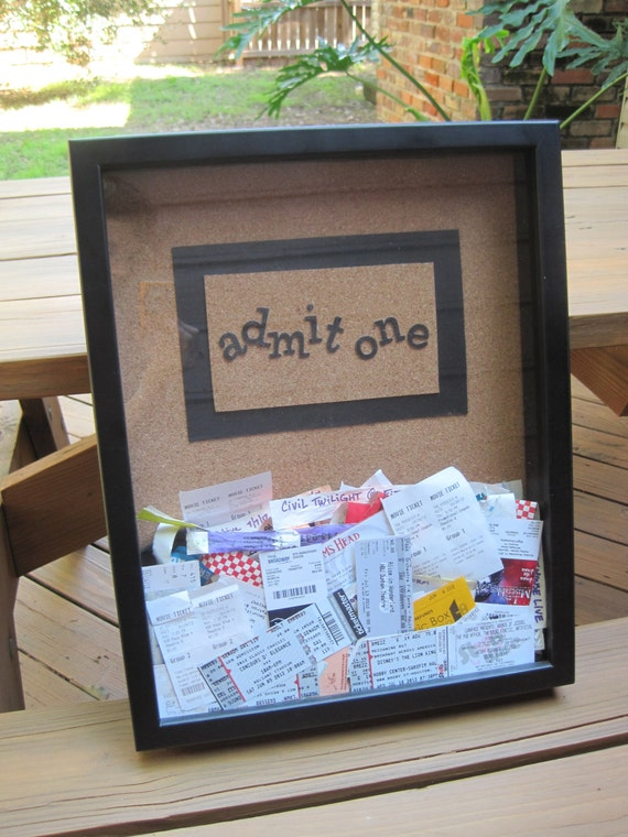 Items similar to ticket stub memory box wall hanging for What to do with old mailbox