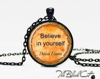 Dalai Lama quote pendant Dalai Lama quote necklace  Dalai Lama quote jewelry for men for her blue black