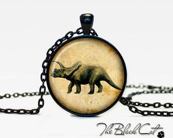 Dinosaur pendant Dinosaur necklace Dinosaur jewelry vintage style (PD008)