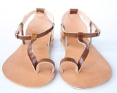 Sexy Leather Sandals - Women's Shoes - Any Colors - Any Size