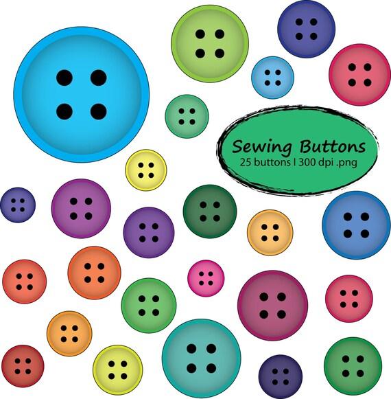 clothes buttons clip art - photo #49