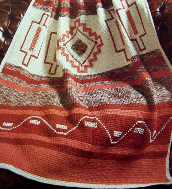 Awesome Geometric Southwest Indian Afghan Crochet Pattern