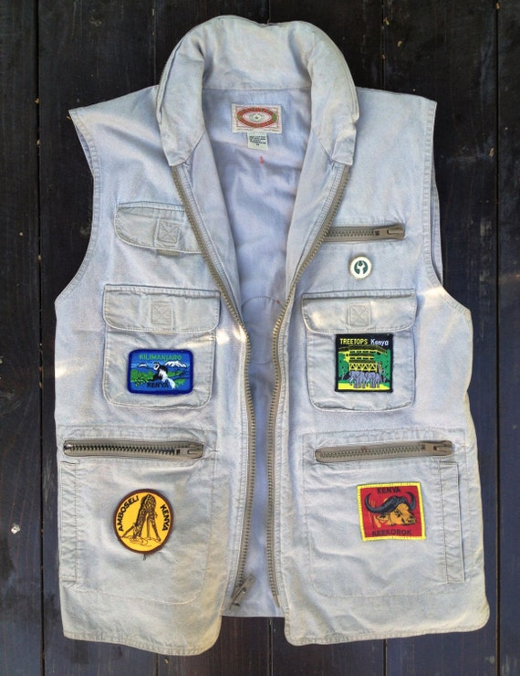 Vintage Safari Vest By Banana Republic With By